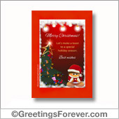 Merry Christmas printable card - For all devices