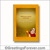 Season's Greetings printable card - For all devices