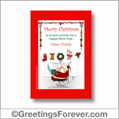 Christmas printable card - For all devices