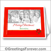 Christmas photo printable card - For all devices