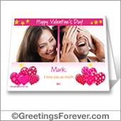 Printable Valentine card - For desktop