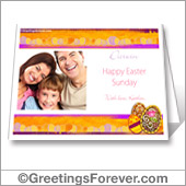 Printable Easter card with photo