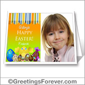 Easter card with photo to print