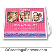 Happy day printable card with photos - For desktop