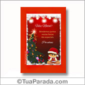 Cartões de Natal para imprimir