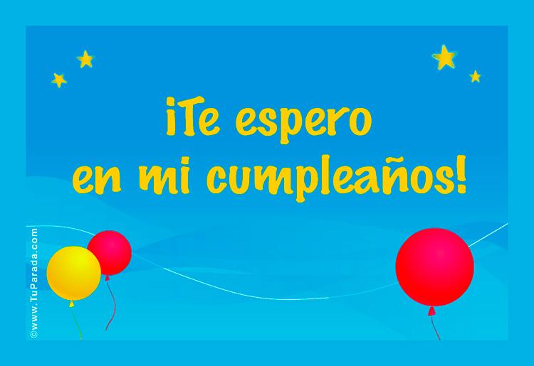 Tarjetas De Cumpleaños Gratis Invitacion