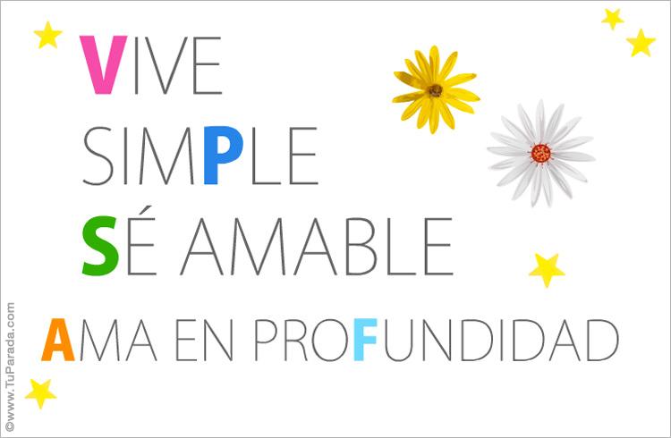 Tarjeta - Vive simple