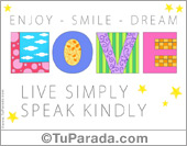 Tarjeta - Enjoy, smile, dream