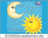 Sonne & Mond-E-Card zum Valentinstag