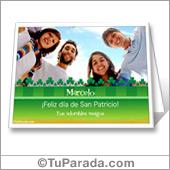 Tarjeta de San Patricio para imprimir