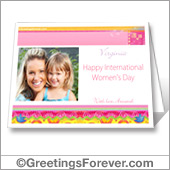 Happy women's day printable card