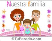 Tarjetas postales: Familia con niña