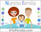 Tarjetas postales: Familia con niño