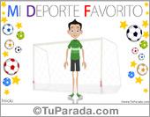 Hijos - Tarjetas postales: Tarjeta de mi deporte favorito