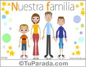 Tarjetas postales: Familia con dos hijos varones