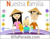 Tarjetas postales: Nuestra familia con bebé
