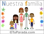 Tarjeta - Familia con tres hijos