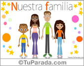 Tarjeta - Familia con padres e hijos