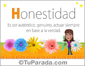 Tarjetas, postales: Honestidad