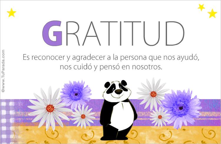 Tarjeta - Gratitud