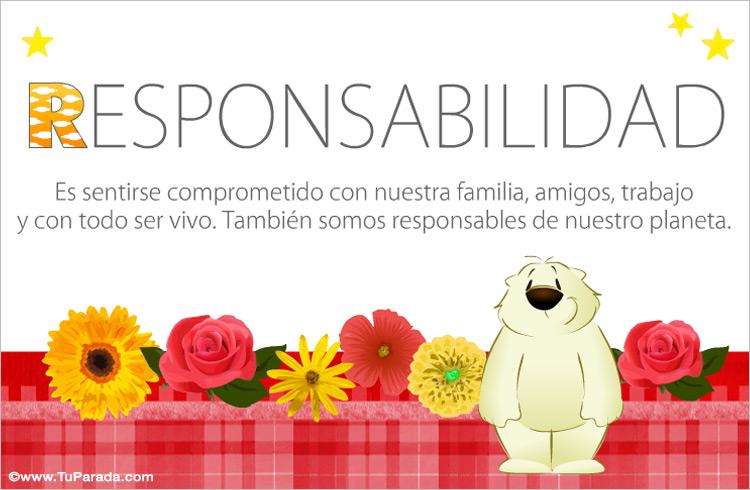 Tarjeta - Responsabilidad