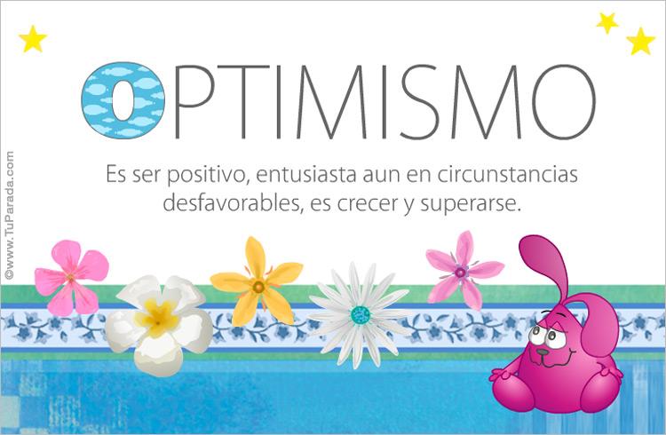 Tarjeta - Optimismo