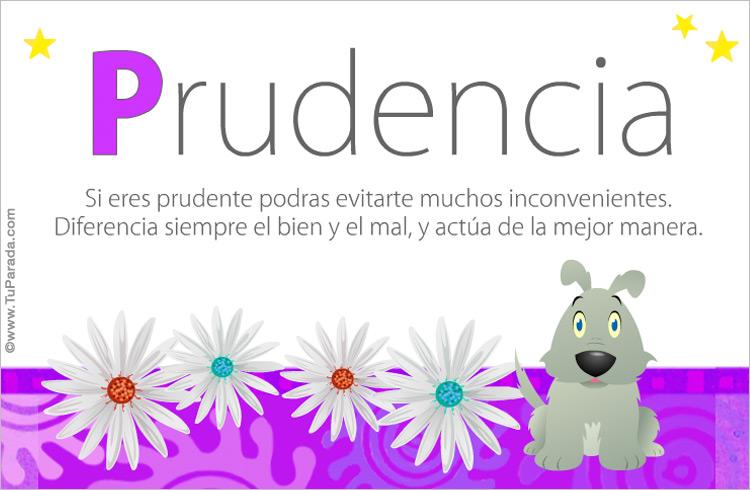 Tarjeta - Prudencia