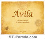 Origen y significado de Ávila