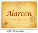 Origen y significado de Alarcon