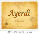 Origen y significado de Ayerdi