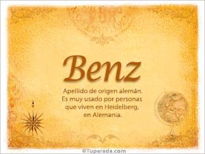 Origen y significado de Benz