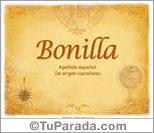 Origen y significado de Bonilla