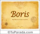 Origen y significado de Boris