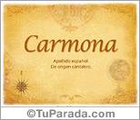 Origen y significado de Carmona