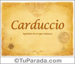 Origen y significado de Carduccio