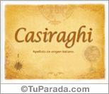 Origen y significado de Casiraghi