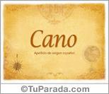 Origen y significado de Cano