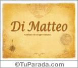 Origen y significado de Di Matteo