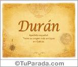 Origen y significado de Durán
