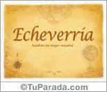 Origen y significado de Echeverría