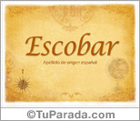 Origen y significado de Escobar
