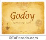 Origen y significado de Godoy