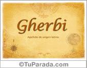 Origen y significado de Gherbi