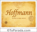 Origen y significado de Hoffmann