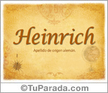Origen y significado de Heinrich