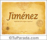 Origen y significado de Jiménez
