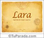 Origen y significado de Lara