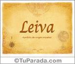 Origen y significado de Leiva