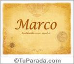 Origen y significado de Marco