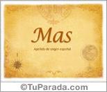 Origen y significado de Mas